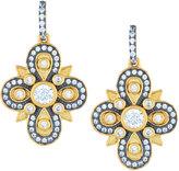 Freida Rothman Embellished Clover Drop Earrings