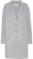 Acne Studios Elsa Doublé Grey Wool And Cashmere-blend Coat