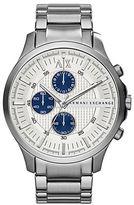 Armani Exchange Mens Silvertone Chronograph Watch