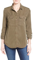 Halogen Tencel(R) Utility Shirt (Regular & Petite)