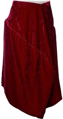 Comme Des Garçons Pre-Owned Velvet Jacquard Padded Skirt