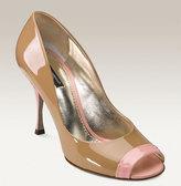 Dolce&Gabbana Peep Toe Patent Leather Pump