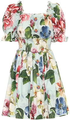 Dolce & Gabbana Floral cotton minidress