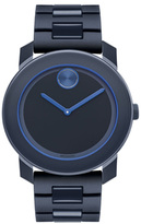 Movado 3600314 Men's Bold Black SS Navy Blue Dial