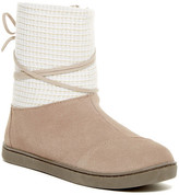 Toms Suede Faux Fur Lined Boot (Little Kid & Big Kid)