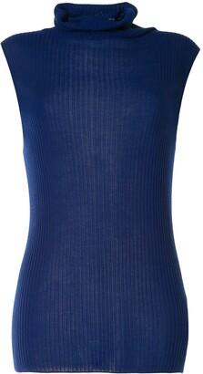 Yohji Yamamoto Sleeveless Knitted Top