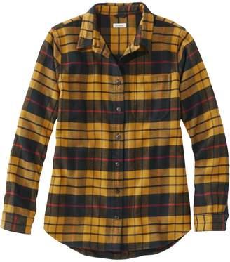 L.L. Bean L.L.Bean Organic Flannel Plaid Tunic