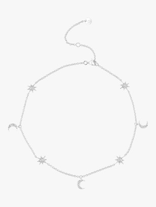 Shay Jewelry Moon Star Dangle Drop Choker