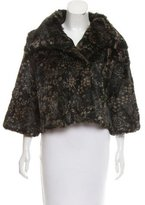 Adrienne Landau Printed Fur Jacket w/ Tags