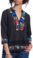 Plenty by Tracy Reese Embroidered Kurta Top