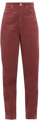 Etoile Isabel Marant Corsyv Cotton-corduroy Straight-leg Trousers - Womens - Pink