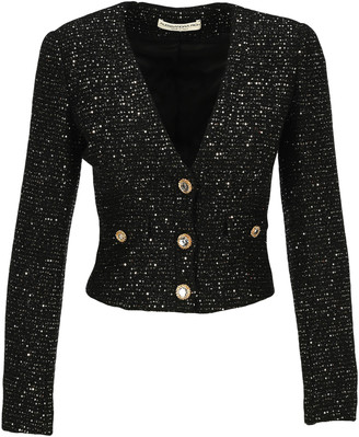 Alessandra Rich Sequin Tweed Blazer
