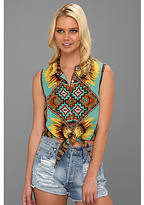 MinkPink Ashbury Crop Tie Shirt
