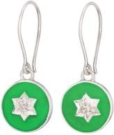 Harry Rocks North Star Enamel Earring Silver Green