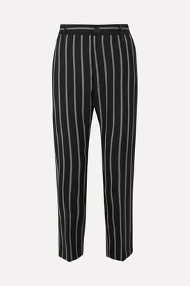 Vivienne Westwood James Bond Cropped Striped Wool Slim-leg Pants - Black