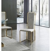Everly Goggin Upholstered Dining Chair (Set of 2 Quinn