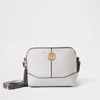River Island Womens Grey coin detail crossbody bag