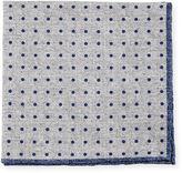 Neiman Marcus Reversible Silk-Cotton Pocket Square