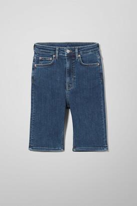 Weekday Body High Peralta Blue Shorts - Blue