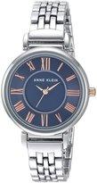 Anne Klein Women's Quartz Metal and Alloy Dress Watch, Color:Silver-Toned (Model: AK/2159CBRT)