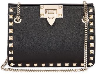Valentino Mini Rockstud Chain Shoulder Bag in Black | FWRD