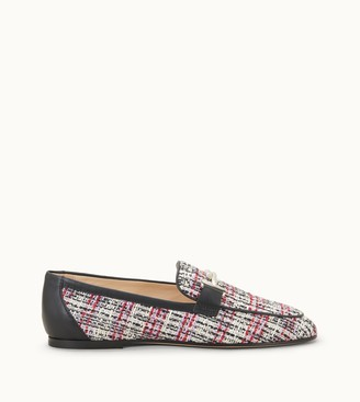 Tod's Loafers in Fabric and Leather