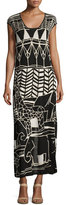 Nic+Zoe Wild Things Graphic Print Maxi Dress, Plus Size