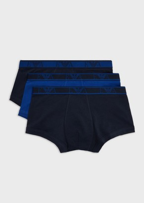 Emporio Armani Three-Pack Of Boxer Briefs With Monogram Band