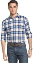 Izod Men's Saltwater Regular-Fit Plaid Performance Button-Down Shirt