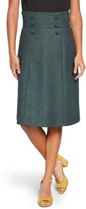 ModCloth Timeless Elements Wool Blend A-Line Skirt