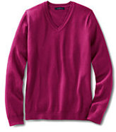 Lands' End Women's Petite Performance V-neck Sweater-Rich Red