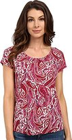 Lucky Brand Women's Printed Paisely Top