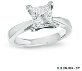 Zales Celebration Lux® 2 CT. Princess-Cut Diamond Solitaire Engagement Ring in 14K White Gold (I/SI2)