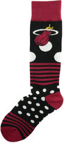 For Bare Feet Miami Heat Dots and Stripes 538 Socks