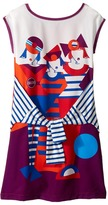 Junior Gaultier Dress with Image of 3 Girls w/ Fake Tyed Sleeves Girl's Dress