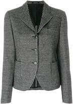 Tagliatore check fitted blazer