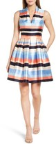 Vince Camuto Petite Women's Pleated Fit & Flare Dress