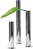 Torre & Tagus Stainless Steel Pipe Vase Set Of Three