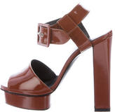 Hermes Patent Leather Platform Sandals