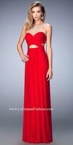 La Femme Sparkle Illusion Sweetheart Prom Dress