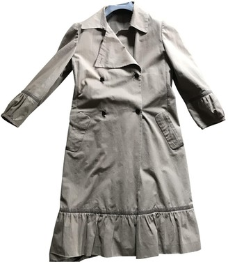 Miu Miu Beige Cotton Trench Coat for Women