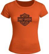 Harley Davidson Printed Tops T shirts Harley Davidson Printed For Ladies Womens T-shirt Tee Tops