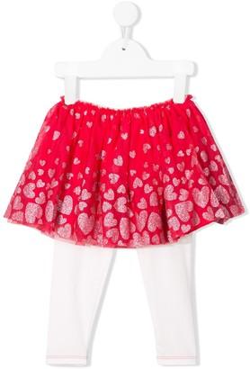 Billieblush heart-print tutu skirt