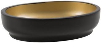 Bathroom Origins - Black & Gold Resin Soap Dish
