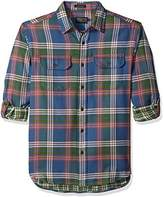Pendleton Men's Long Sleeve Classic-Fit Fairbank Double Faced Shirt