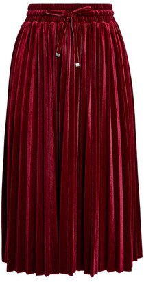 Max & Co. Pleated Velvet Skirt