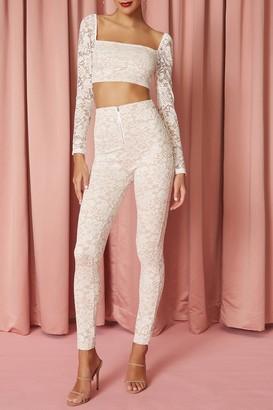 superdown Justene Sheer Lace Pant