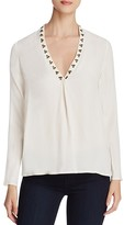 Scotch & Soda Embellished V-Neck Blouse