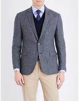 Ralph Lauren Purple Label Single-breasted Linen And Wool-blend Jacket