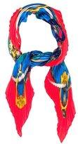 Hermes Grand Manège Silk Plissé Scarf
